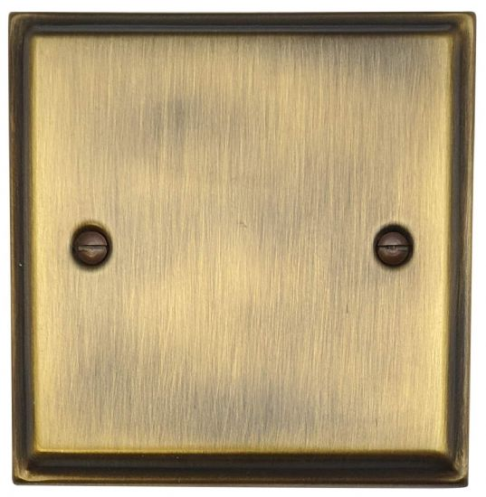G&H Deco Plate Antique Bronze